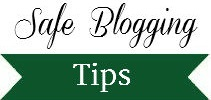 safe online/blogging tips