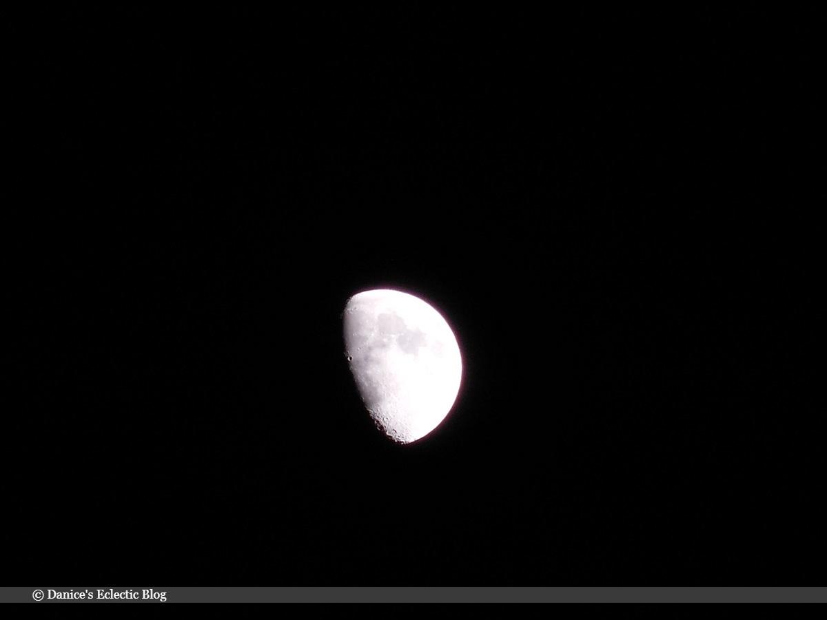 waxing gibbous moon   ©DSG